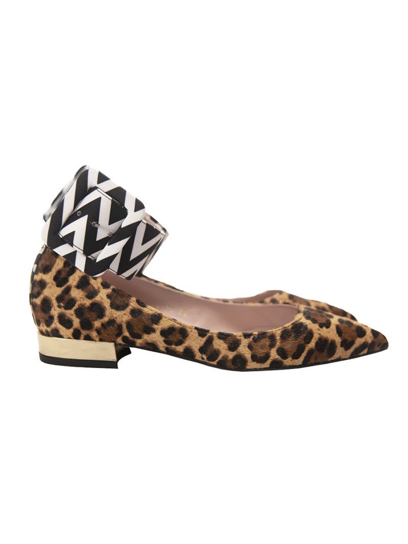 bailarina piel leopardo pulsera ancha contraste