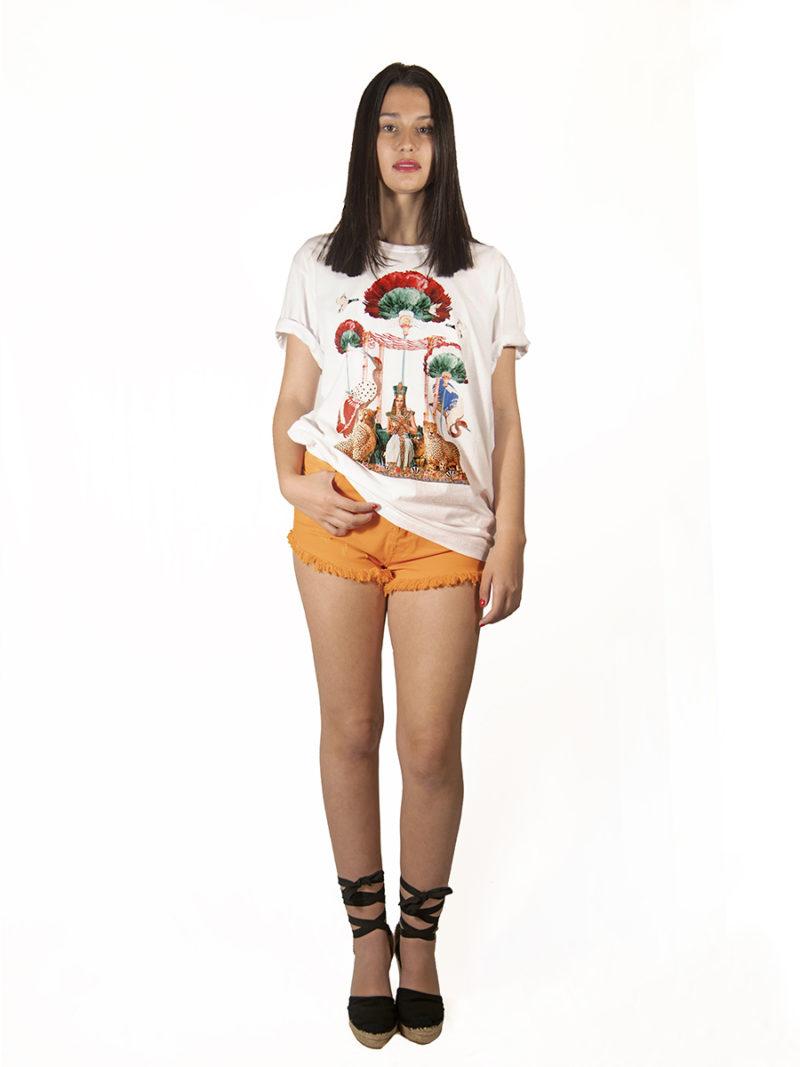 camiseta unisex agodón blanca diseño Cleopatra