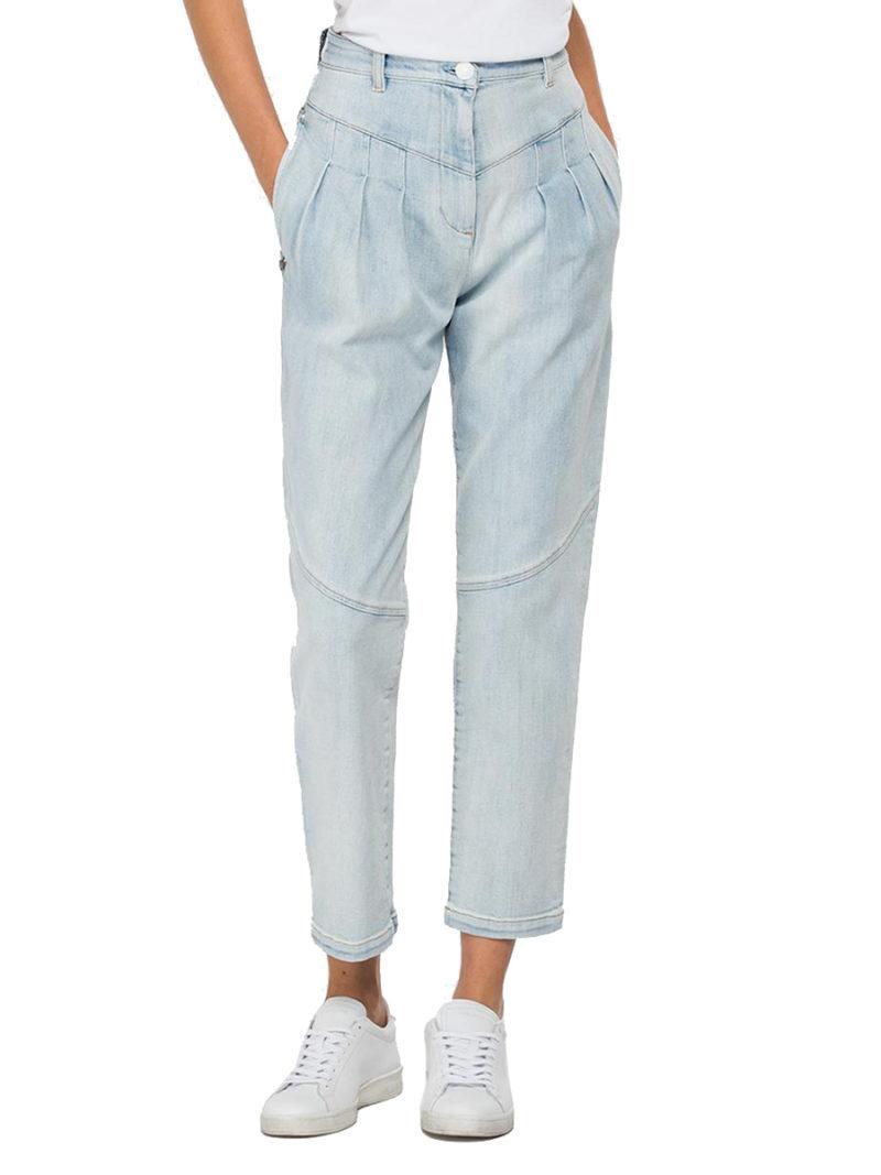 jeans slouchy strecht azul claro