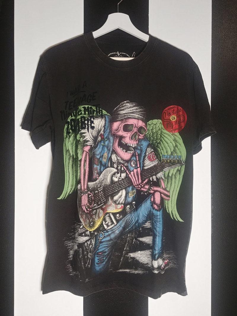 camiseta rock calavera negra ElsavadeBoda Shiroi Neko